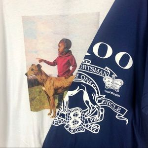 Akoo Men's Flagler Split Knit Graphic Tee XXL NWT
